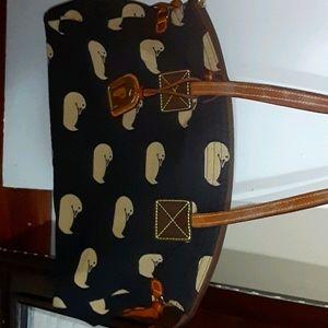 D&B fabric purse
